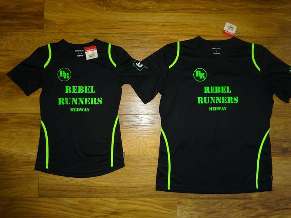 Rebel Runners Medway - Black T-Shirt Selection