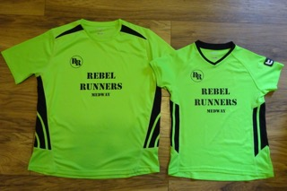 Rebel Runners Medway - Green T-shirt